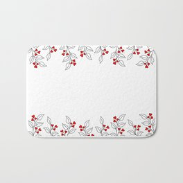 Brunches with leaves and hearts Bath Mat