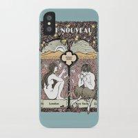 cannabis iPhone & iPod Cases featuring Cannabis, Art Deco by Susan Szecsi