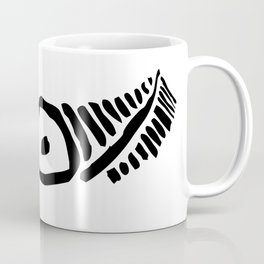 Taino eye graphic design in black and white Coffee Mug