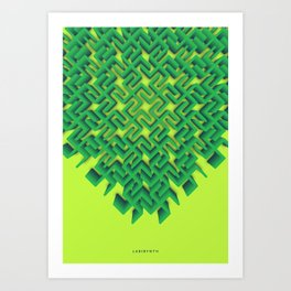 Symmetry: Labirynth Art Print