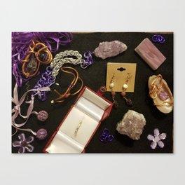 Purple Panel collection Canvas Print