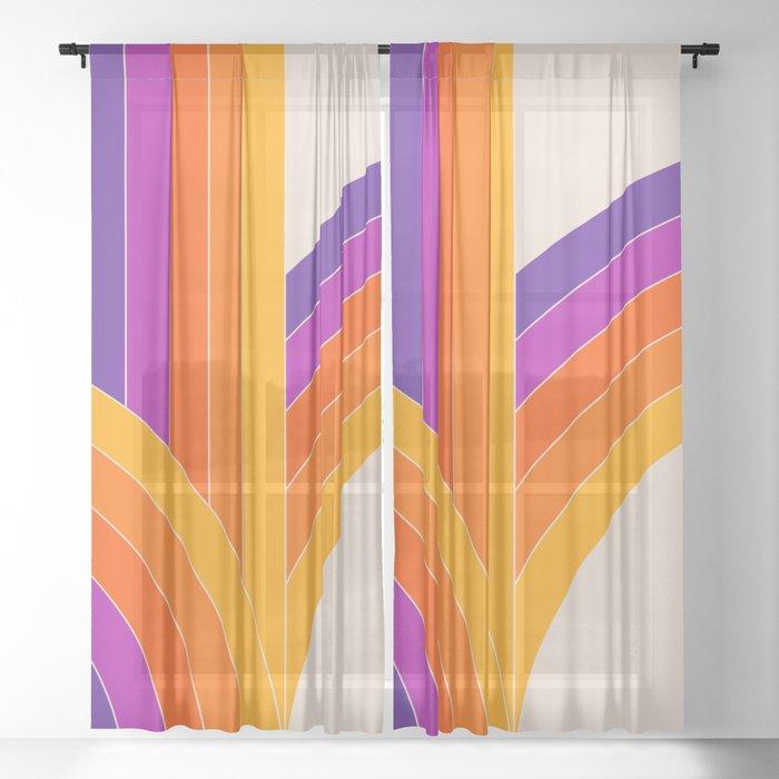 Bounce - Rainbow Sheer Curtain