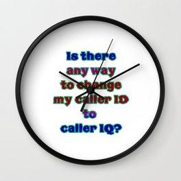 "Funny ""Caller ID"" Joke Wall Clock"