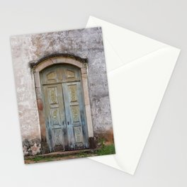 Beautiful ancient church door in Ouro Preto, Brazil. Stationery Cards