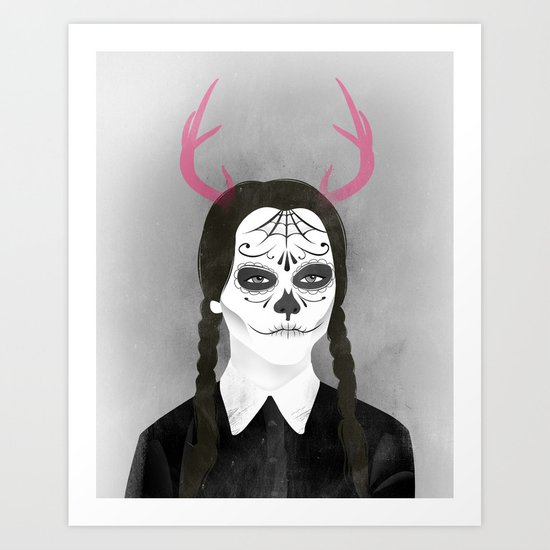 Wednesday Addams Art Print