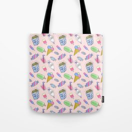 Cute pink candy and ice-cream Tote Bag