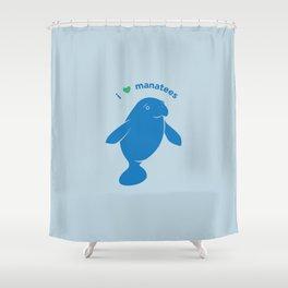 I love Manatees Shower Curtain