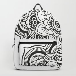 Mandala White & Black Backpack
