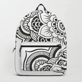 Mandala White & Black Backpack