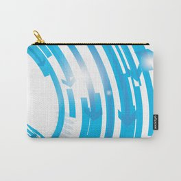 BLUE ARROWS Abstract Art Carry-All Pouch