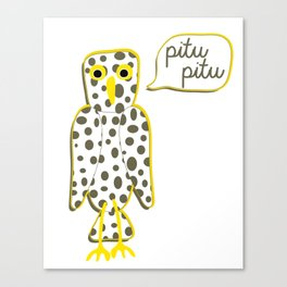 Pitu pitu bird Canvas Print