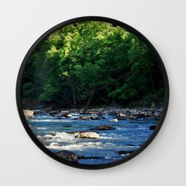A Creek and Forest in West Virginia  Wall Clock