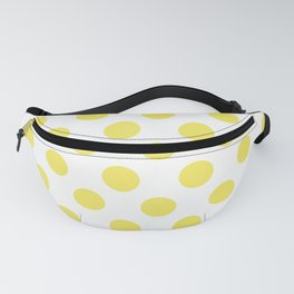 Yellow Medium Polka Dots Fanny Pack