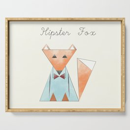 Hipster Fox Serving Tray