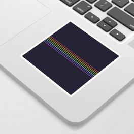 Fine Rainbow Colored Retro Lines Sticker