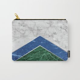 Arrows - White Marble, Blue Granite & Green Granite #220 Carry-All Pouch