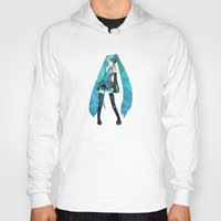 vocaloid Hoodies featuring Miku by Sally Taylor