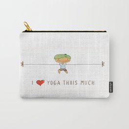 I love yoga boy Carry-All Pouch