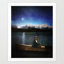 The Bull and the Moon Art Print