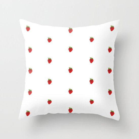 Earth Berry Throw Pillow