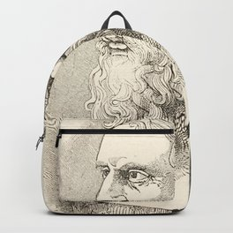 Vintage Plato The Philosopher Illustration Backpack