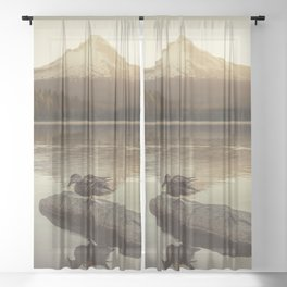 The Oregon Duck Sheer Curtain