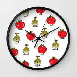 Apples and Pears Wall Clock