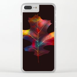 Rainbow Leaf Clear iPhone Case