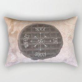 Never Eat Soggy Waffles Rectangular Pillow