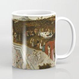 Lucas Cranach Der Jungbrunnen Fountain Of Youth Coffee Mug