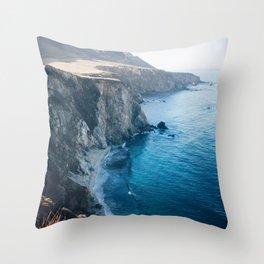 Hidden Beach - Beach Cliffs Throw Pillow