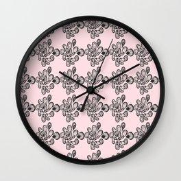 Soft pink ornament Wall Clock