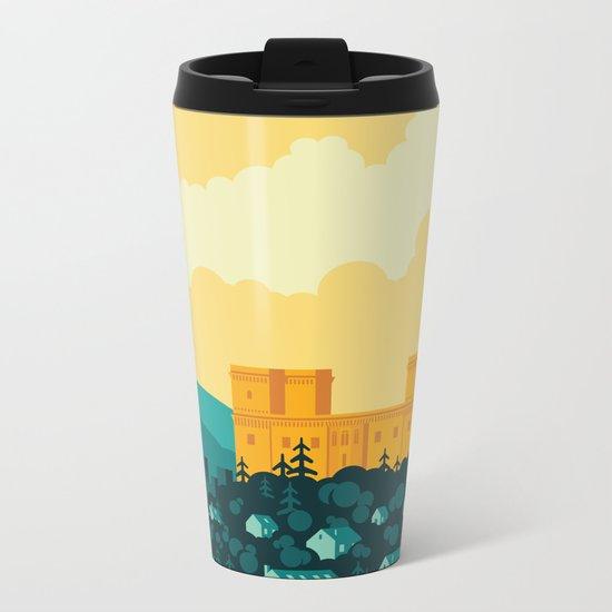 Golden castle Metal Travel Mug