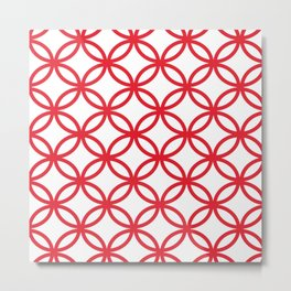 Interlocking Red Metal Print