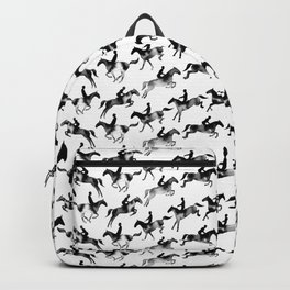 Showjumping Horse Sequence (Black) Backpack