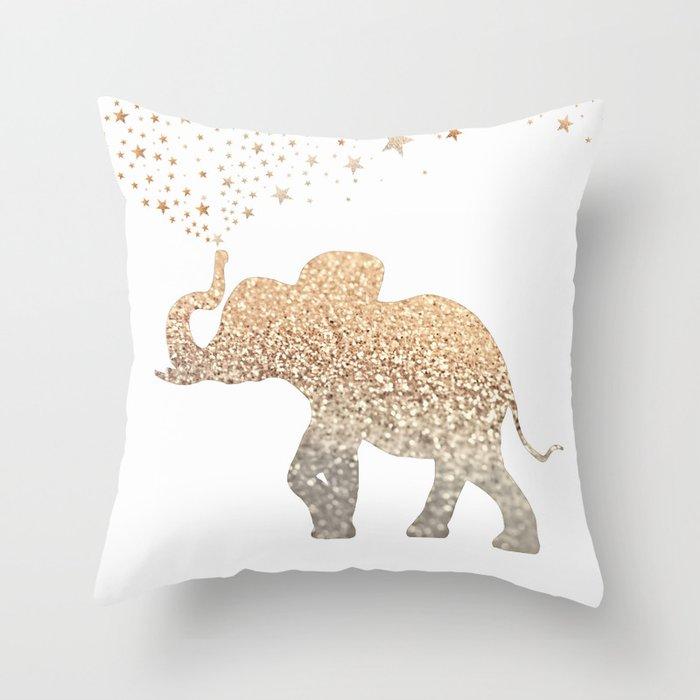 Gold Elephant Throw Pillow By Monikastrigel Society6