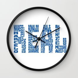 Real Madrid 2017-2018 Wall Clock
