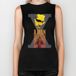Malcolm X Typography Quotes Biker Tank