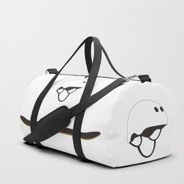 Skateboard and Helmet Illustration Duffle Bag