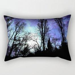 Black Trees Periwinkle Blue Lavender SPACE Rectangular Pillow