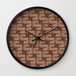 African Kuba Cloth 3 Wall Clock