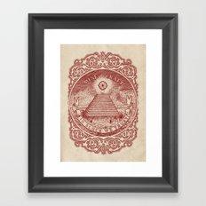 In Block We Trust (Red) Framed Art Print