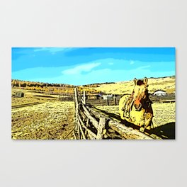 Mongolia Horse Treks (at Mountain Rubia) Canvas Print