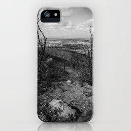 Black and White Burnscape pt. 1 iPhone Case