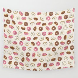 ALL the donuts! Rainbow on Cream Wall Tapestry
