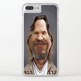 Jeff Bridges Clear iPhone Case