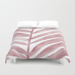 Pink Palm Leaf Crop Duvet Cover