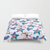 girly Duvet Covers featuring Girly by mariorigami