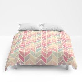 Pastel Chevron Geometric Pattern Comforters