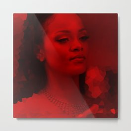 Rihanna - Celebrity (Dark Fashion) Metal Print